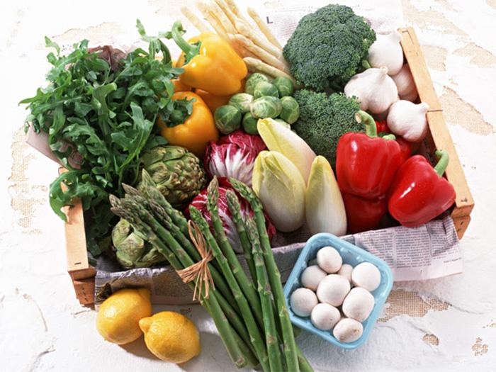 美味しそうな野菜が並んでいる